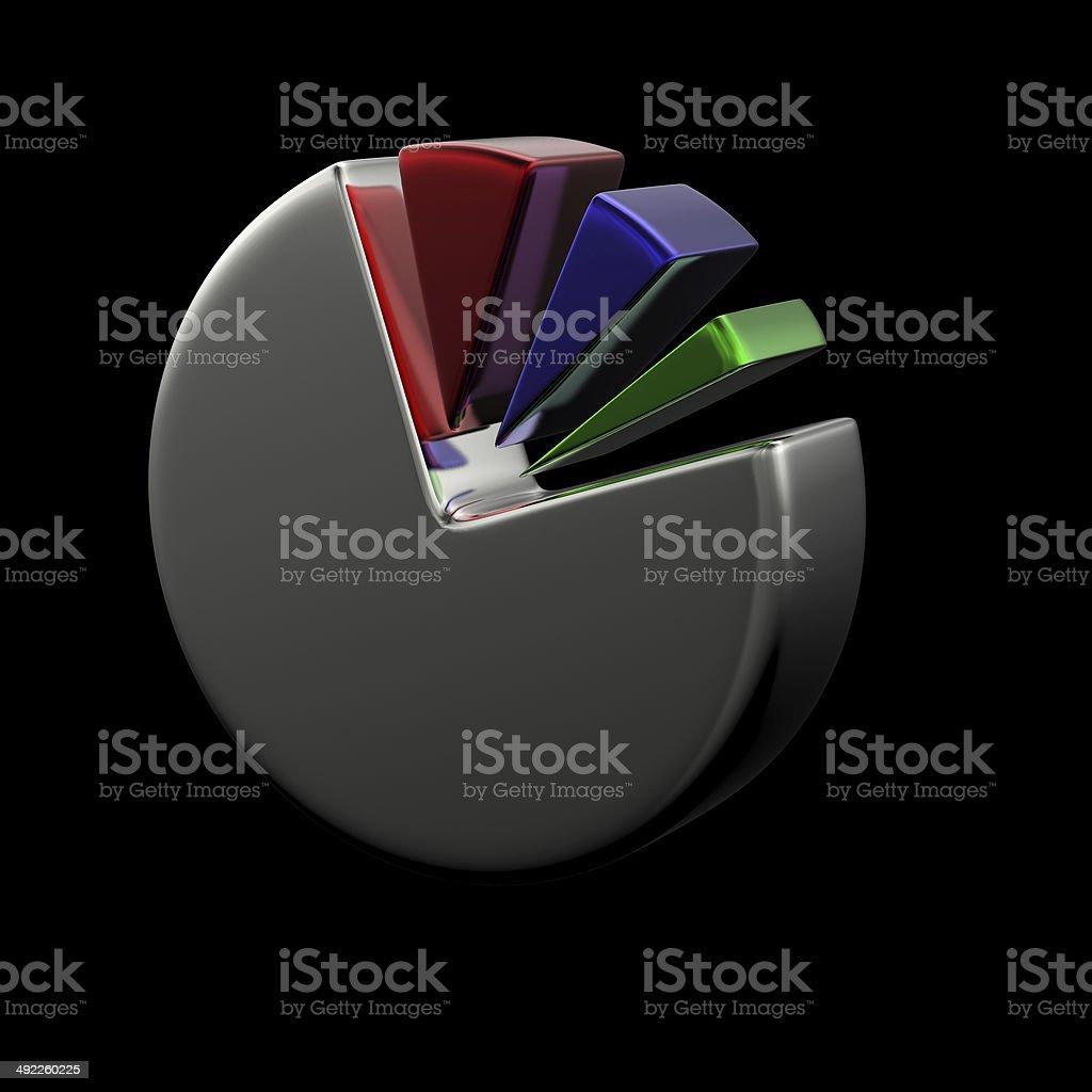 hight resolution of 3d circular diagram on black royalty free stock photo