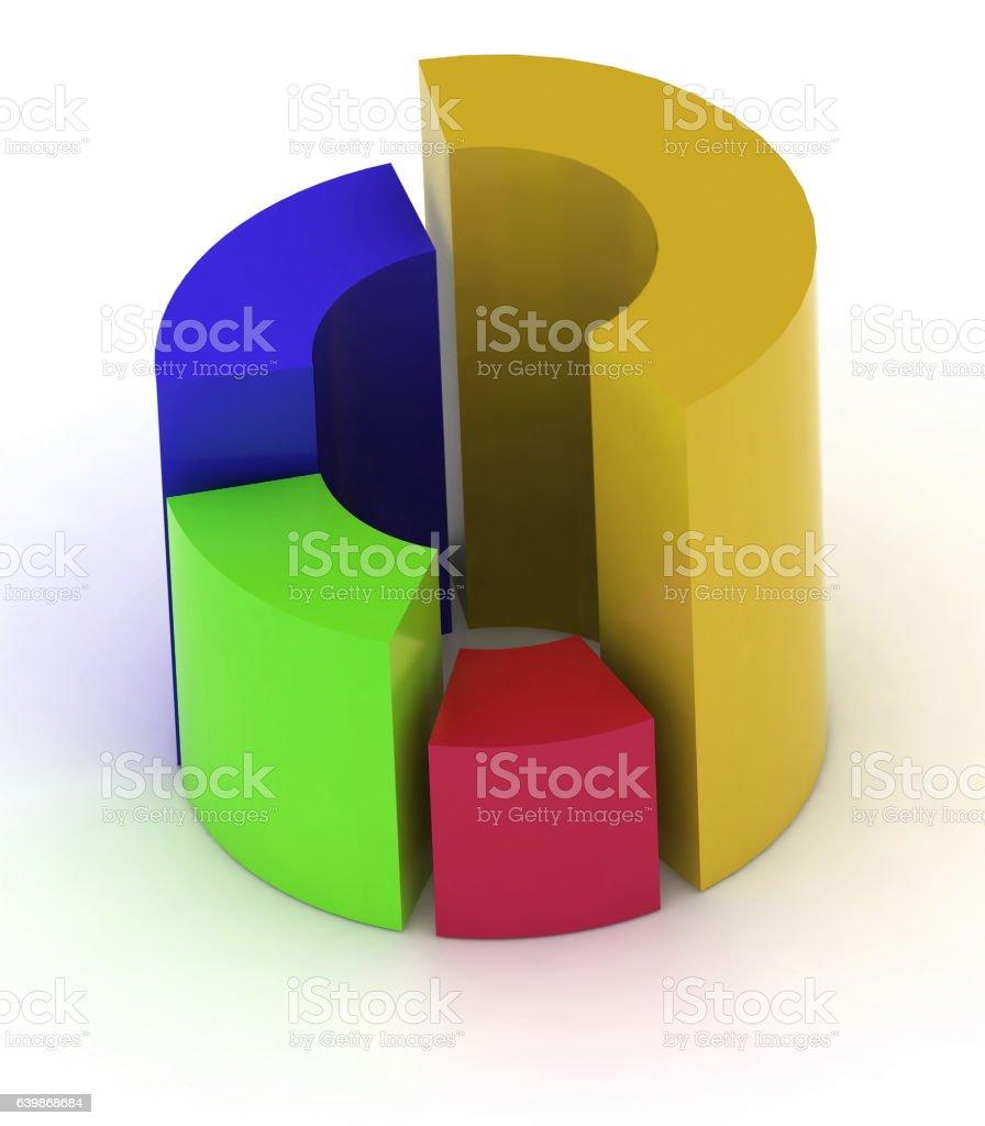 medium resolution of 3d circular diagram on white background royalty free stock photo