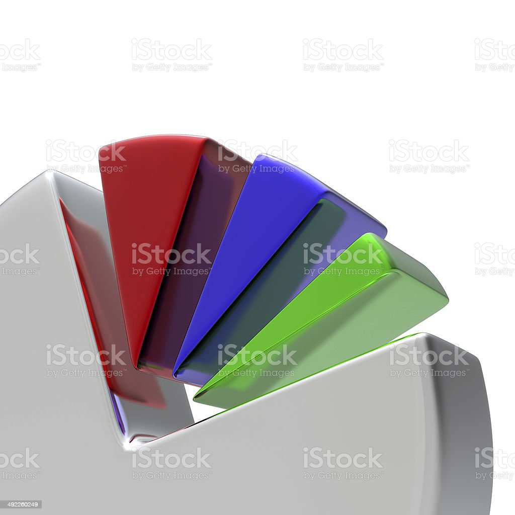 hight resolution of 3d circular diagram on white royalty free stock photo