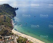 Cleopatra Beach Alanya Turkey Stock &