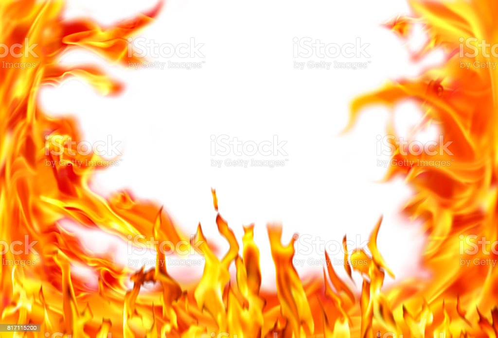 close up abstract fire