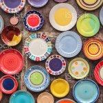 Bunte Keramik Porzellan Geschirr Geschirr Stockfoto Und Mehr Bilder Von Altertumlich Istock