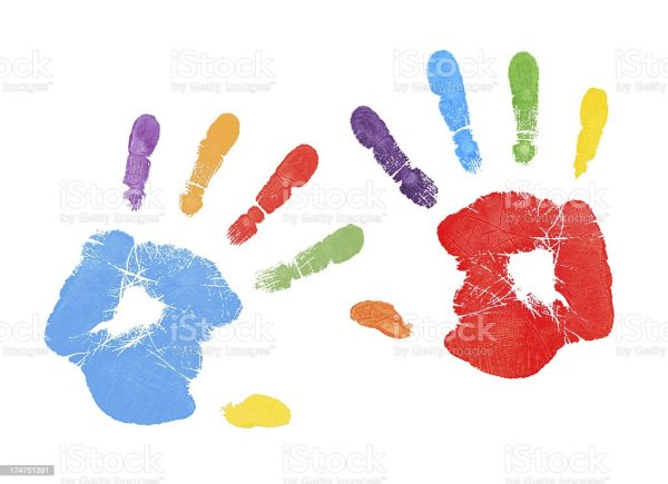 Colorful Handprints Stock Photo More Pictures of Child
