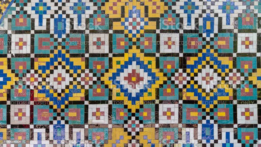 https www istockphoto com photo colorful painting mosaic tiles on the wall at golestan palace tehran iran gm1180026304 330425610