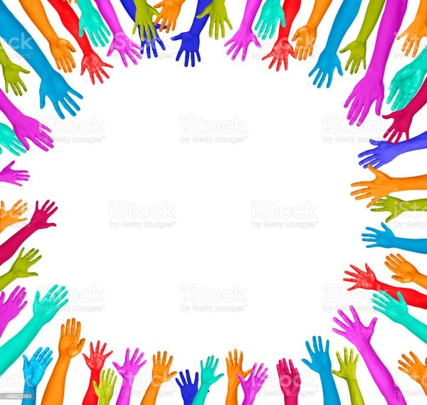 Colourful Hands In A Circle Stock Photo More Pictures of