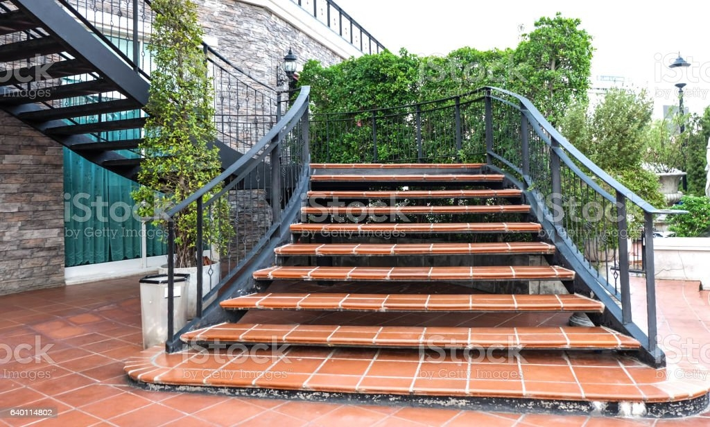 Concrete Stairs In The Park Outdoor Stock Photo Download Image | Concrete Stairs Design Outdoor | Beautiful | Roof Deck | Storage Underneath | Exterior | Modern