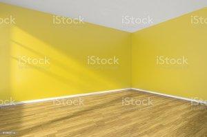 empty yellow floor corner wooden walls parquet corber wall flooring royalty apartment window hardwood