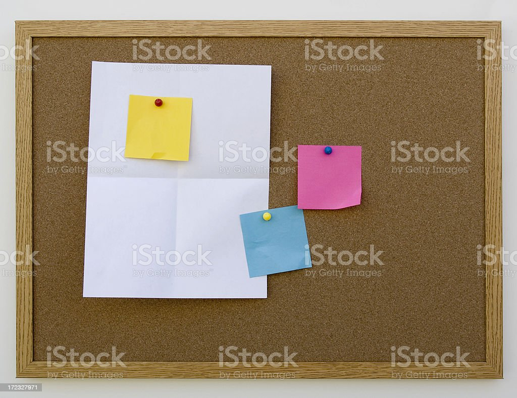 cork board with blank