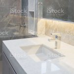 Counter Top White Marble With Washbasinwall And Floor Beigegrey Marble Stone Interior Design Of Restroom Or Toilet Backgroundrestroom Clean Design With Accessories Background Stock Photo Download Image Now Istock