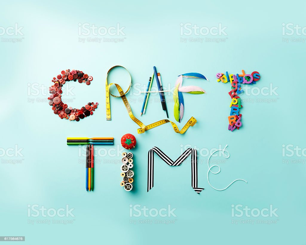 Craft Time Letters Stock Photo Download Image Now Istock
