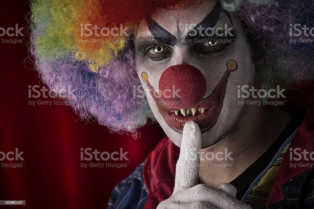 best scary clown stock