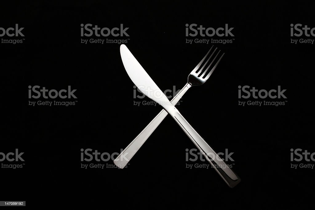 Royalty Free Crossed Knife And Fork Pictures Images and