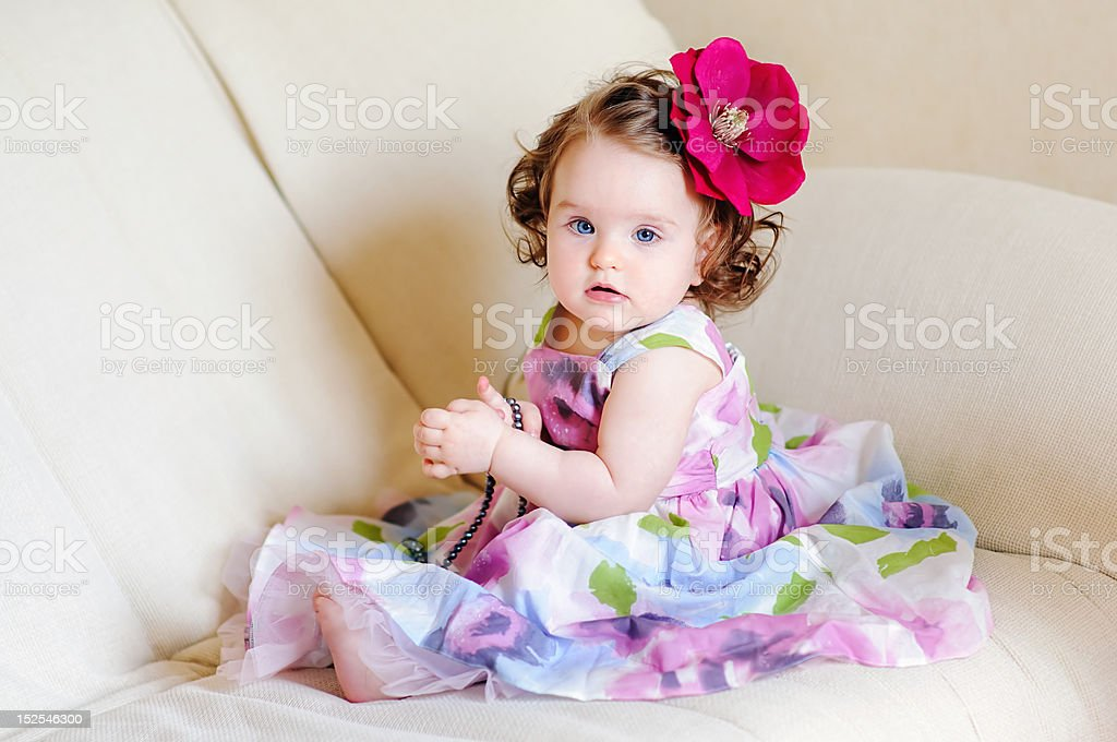 cute babygirl stock photo