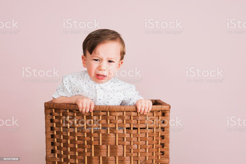 cute child crying in