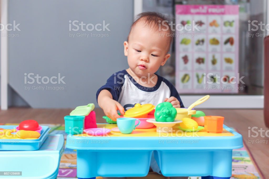 Cute Little Asian 18 Months 1 Year Old Toddler Baby Boy