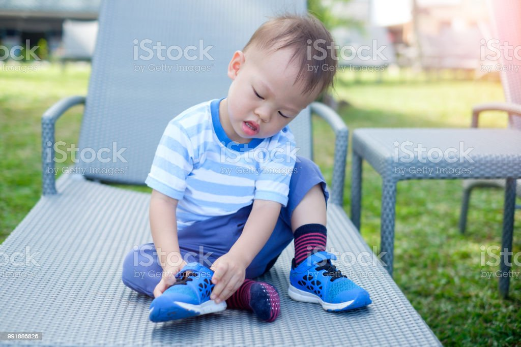 Cute Little Asian 18 Months 1 Year Old Toddler Boy Child