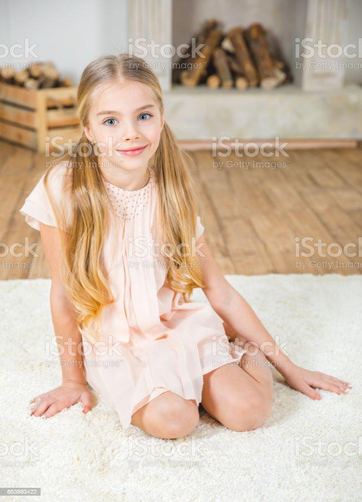 cute little girl stock