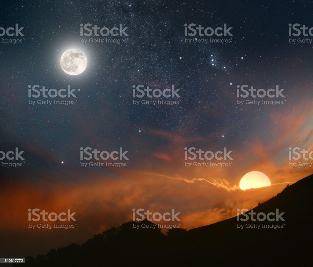 best sun moon stock
