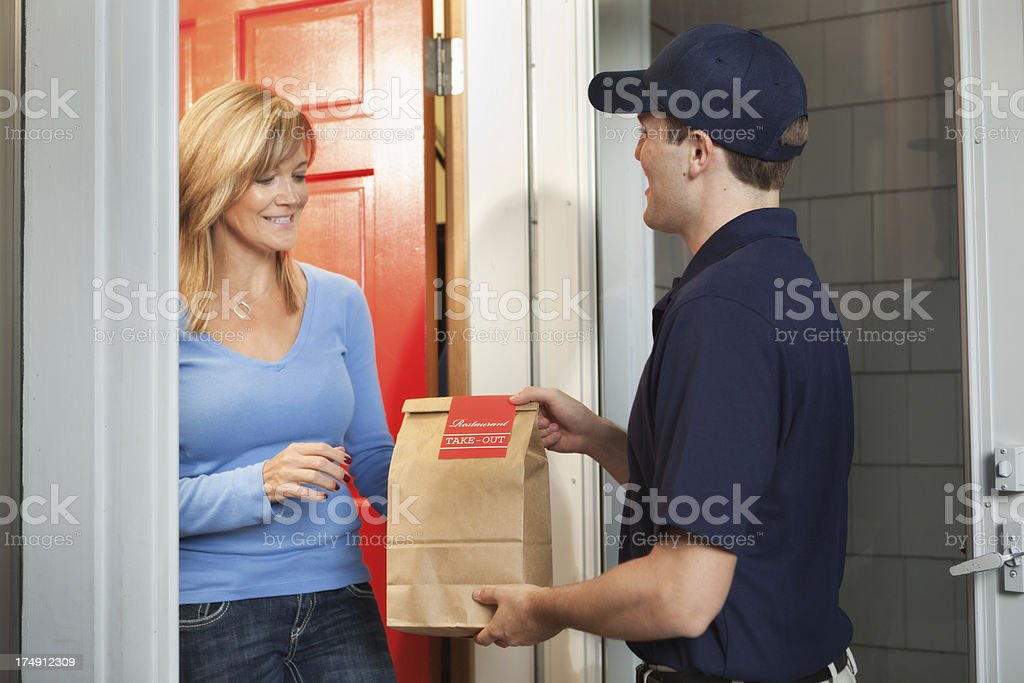 Royalty Free Food Delivery Pictures Images and Stock ...
