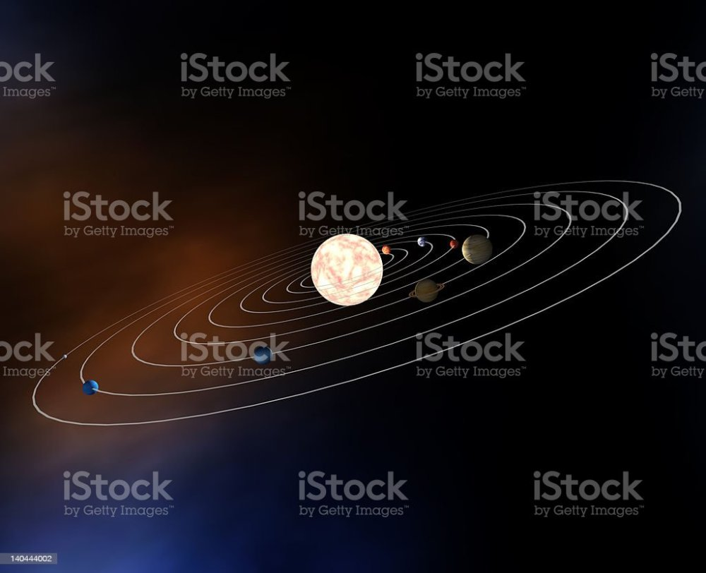 medium resolution of diagram of planets in the solar system stock image