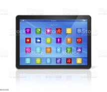 Digital Tablet Computer Apps Icons Interface Stock