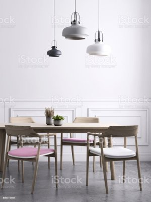 dining background pendant template wall lighting wainscoting kitchen apartment istock houses pink loft furniture istockphoto getty peninsula royalty floor island