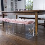 Dining Table With Acrylic Benches Stock Photo Download Image Now Istock