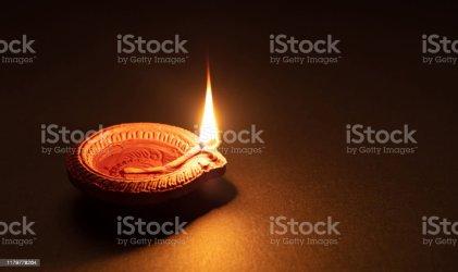 Diwali Hindu Festival Of Lights Celebration Diya Oil Lamp Against Dark Background Stock Photo Download Image Now iStock