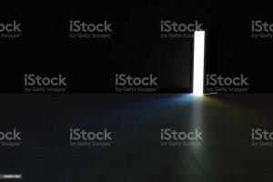 dark background door rainbow illustration royalty istockphoto