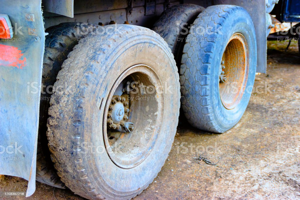 https www istockphoto com photo double wheels of a truck exhaust pipe gm1203352216 345826870