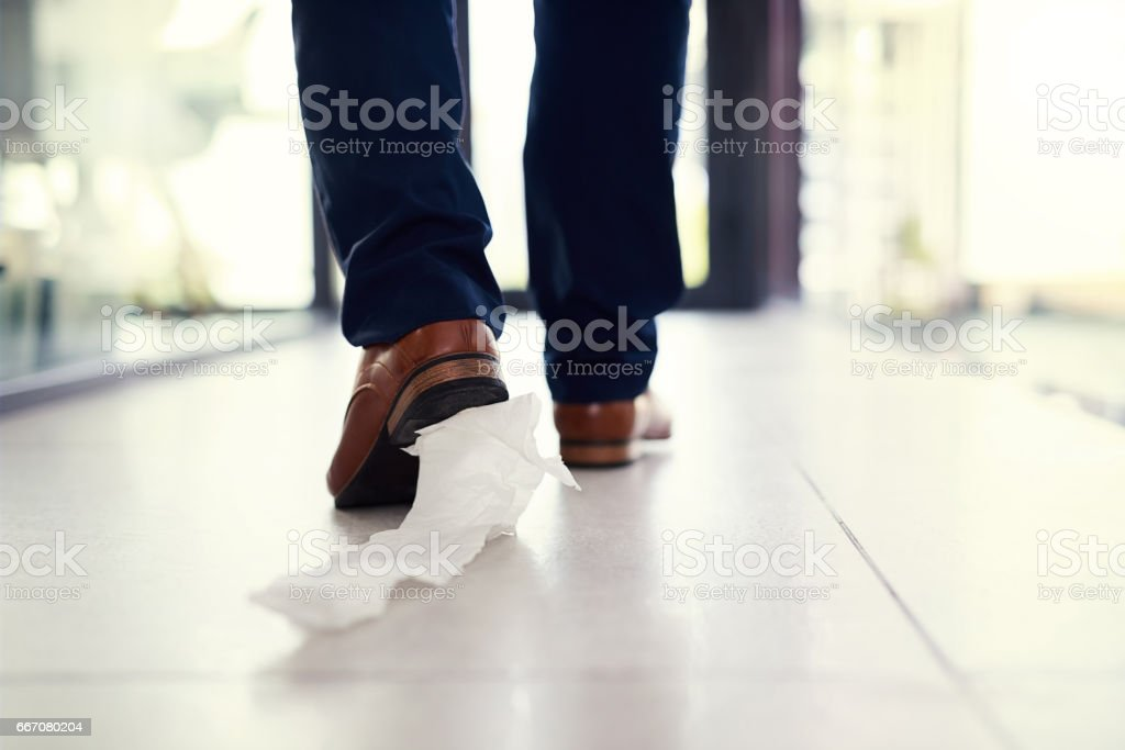 Dragging His Embarrassment Along Stock Photo - Download ...