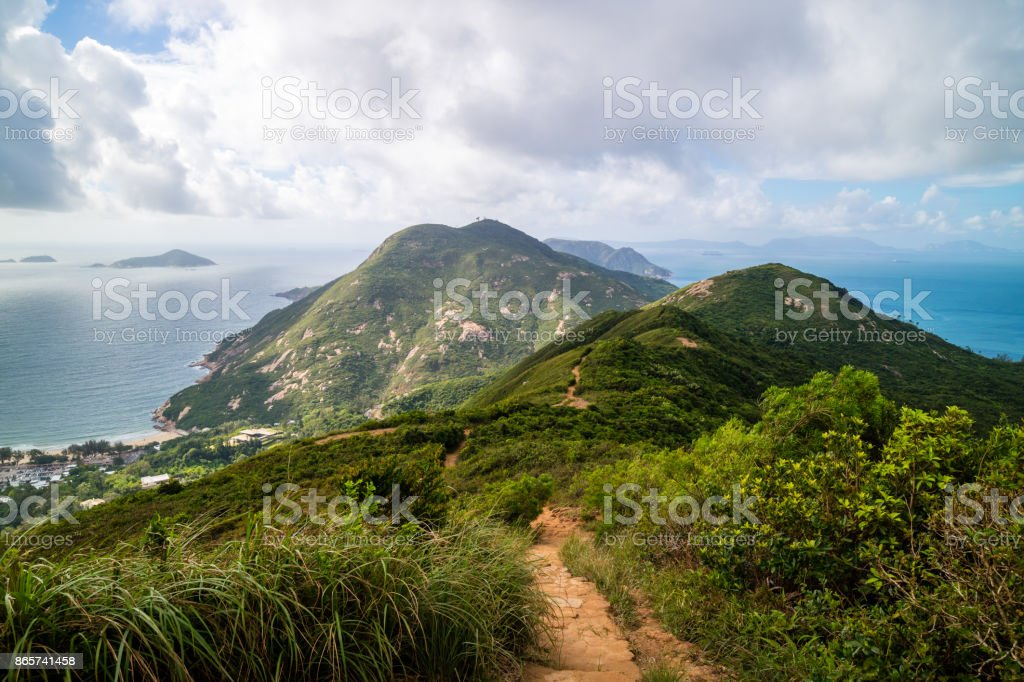 Dragon S Back Mountain Trail Best Urban Hiking Trail In Hong Kong Stock Photo - Download Image Now - iStock