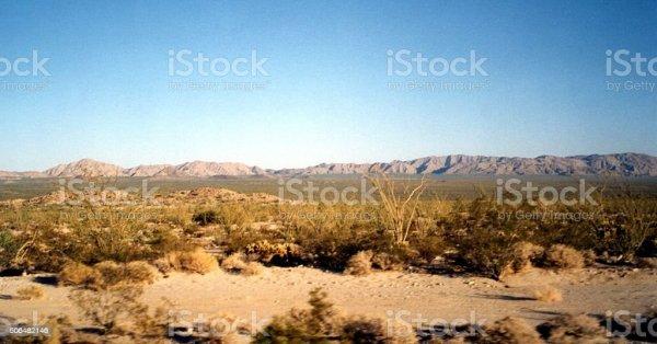 dry landscape in baja california
