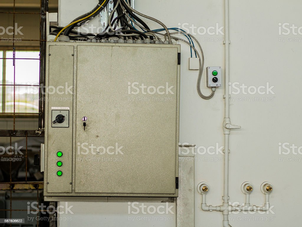 hight resolution of electricity control in factory industry fuse box royalty free stock photo