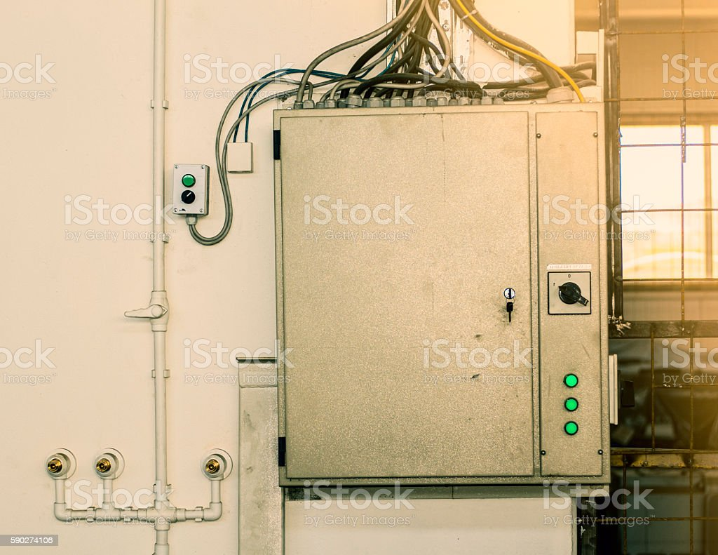 hight resolution of electricity energy control industrial fuse box in factory royalty free stock photo