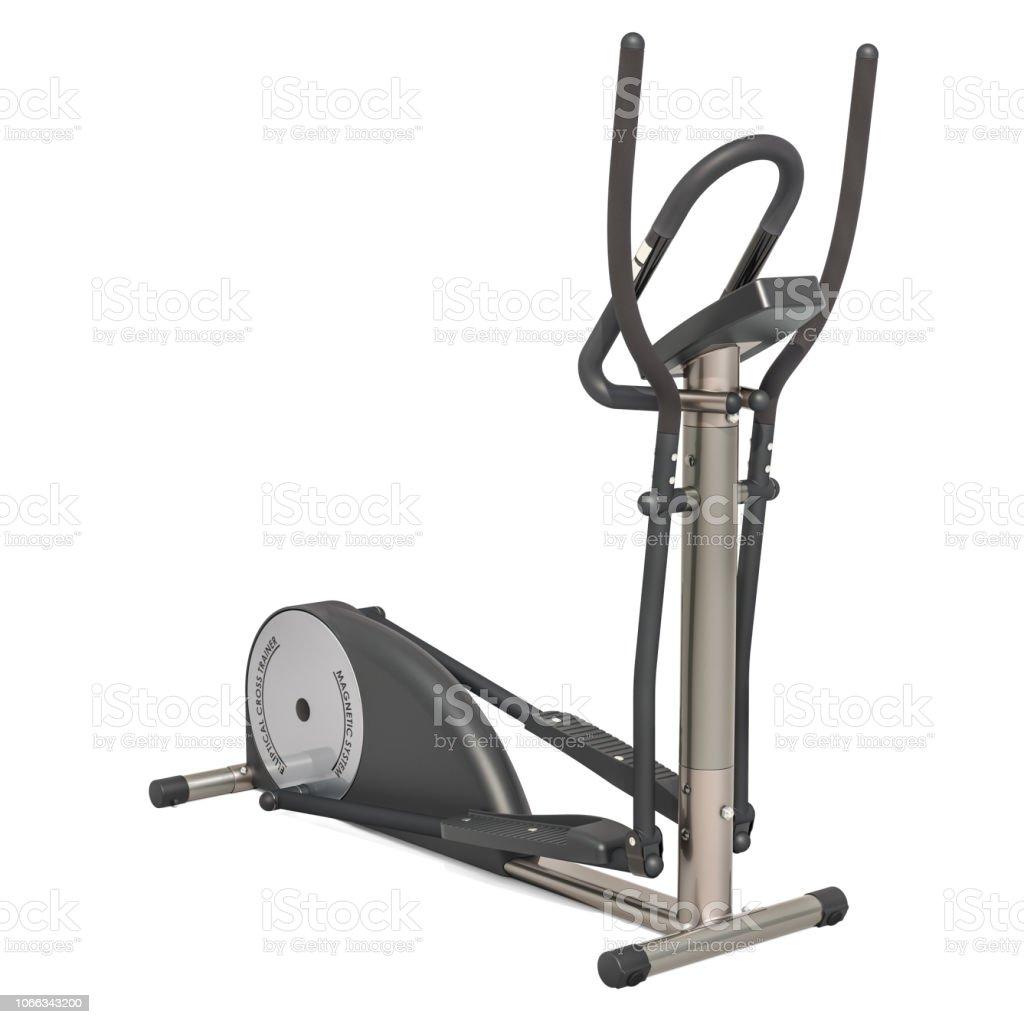 elliptical trainer 3d rendering