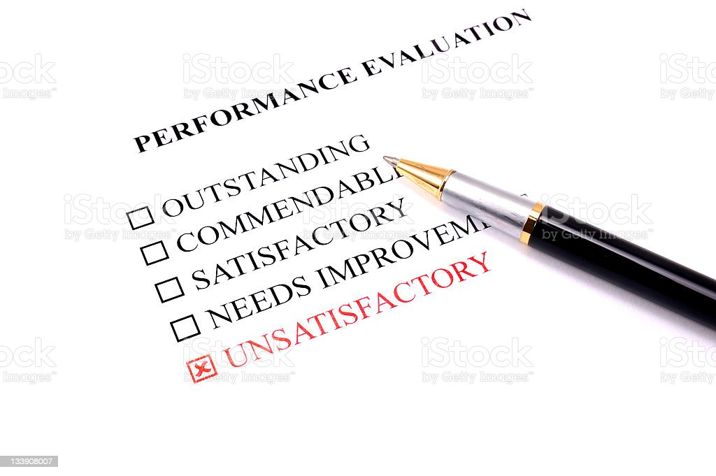 Employee Performance Evaluation Unsatisfactory Stock Photo