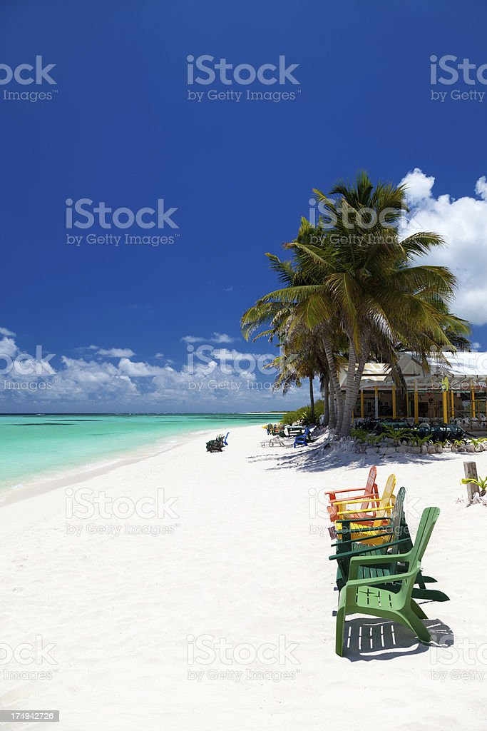 Picture Empty Beach Caribbean
