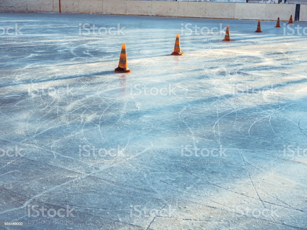 hight resolution of empty ice hockey rink background stock photo more pictures of
