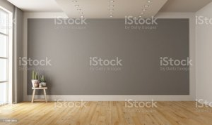 empty background wall gray living minimalist 3d vacant space plant wooden royalty backgrounds interior apartment pink ceiling