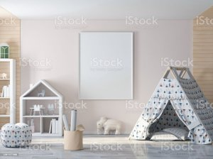 child rooms empty wall frame decorating space poster istockphoto knockoffdecor