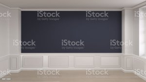 empty rendering interior classic copy space background3d