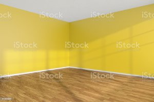 empty floor corner yellow walls wooden wall parquet interior scp sandbox royalty hardwood xxxx iii