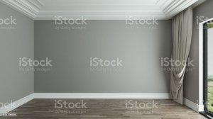 background empty interior curtain