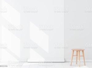 empty blank roll mockup hanging