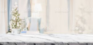 table warm marble christmas living tree empty decor abstract background backdrop holiday blur luxury premium banner backgrounds bokeh advertise display