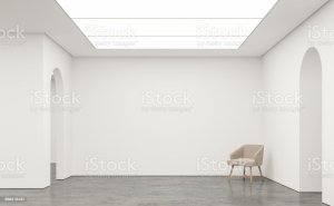 empty space modern 3d interior rendering museum backgrounds beauty architecture royalty thailand