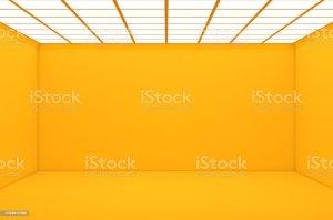 empty yellow 3d