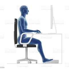 Proper Posture Desk Chair Folding Dining Room Chairs Target Ergonomics To Sit And Work On Office