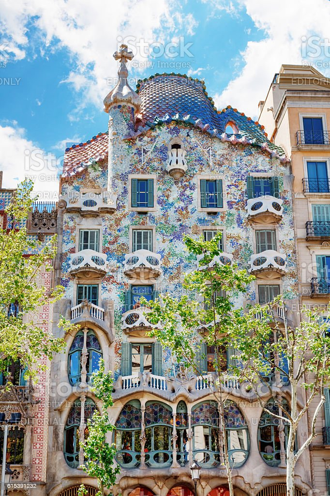 Facade Casa Battlo Or House Of Bones By Antoni Gaudi Stock Photo  More Pictures of Architect